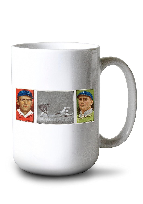 ブルックリンドジャース – ジェイクドーバート/ジョンE。Hummel – 野球カード 15oz Mug LANT-3P-15OZ-WHT-21931 15oz Mug  B077S1ZBZG