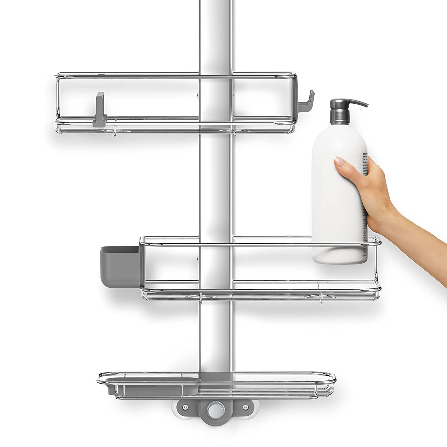 Amazon.com: simplehuman Adjustable Shower Caddy Plus With Extendable ...