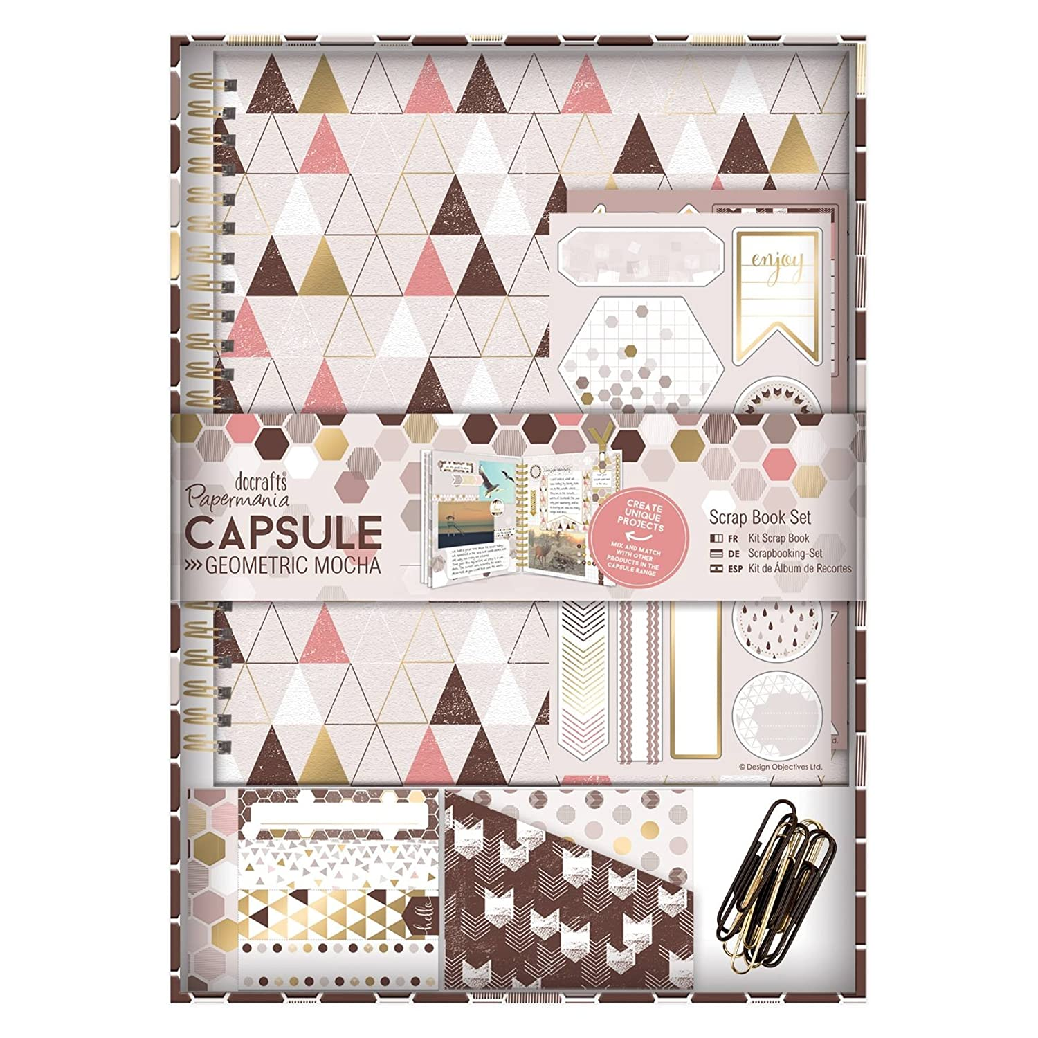 docrafts Papermania Capsule Geometric Scrap Book Set, Neon PMA105351