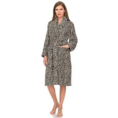 TowelSelections Women's Plush Robe, Fleece Shawl Collar Spa Bathrobe at Women's Clothing store