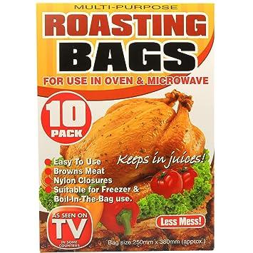 Pack de 10 grandes Asar Bolsas | horno & microondas uso ...