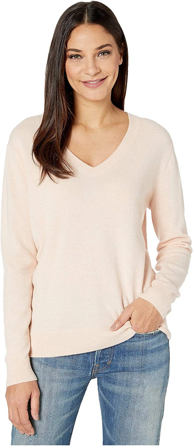 Vince Women's Weekend V Neck Cashmere Sweater at Amazon