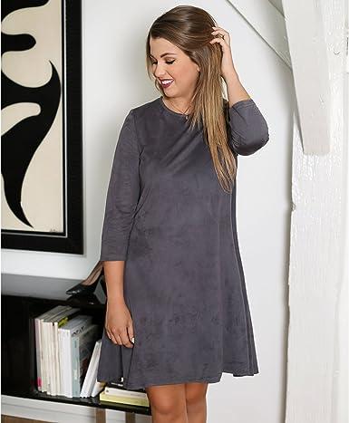 Enjoyphoenix Pour La Redoute Robe Femme Gris 36 Amazon Fr Vetements Et Accessoires