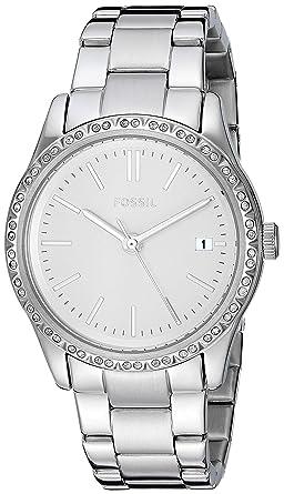 e704baea6219 Amazon.com  Fossil Women s Adalyn Quartz Stainless Steel Dress Watch ...