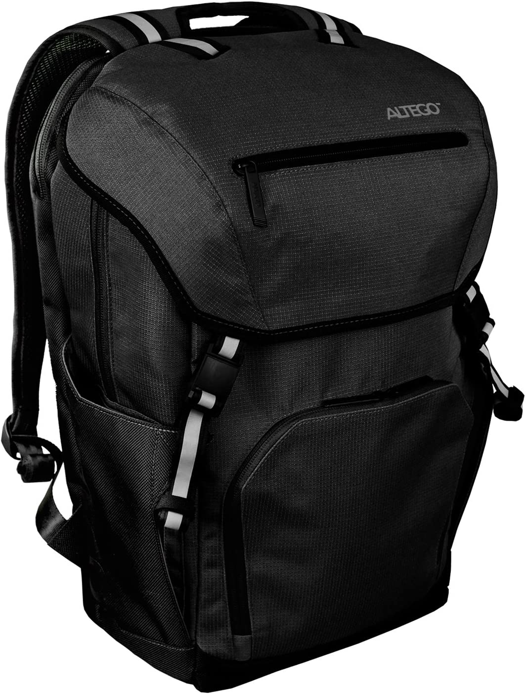 """Altego Polygon Midnight Black Laptop Backpack - Fits Up to 13.3"""" - Rucksack Bag for School, College or Commute (36308)"""