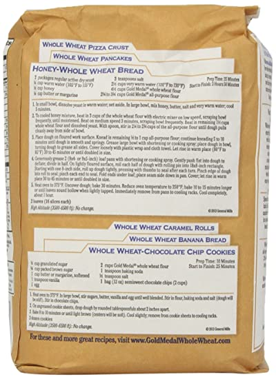 Amazon Com Gold Medal Whole Wheat Flour 5 Lb Grocery Gourmet Food