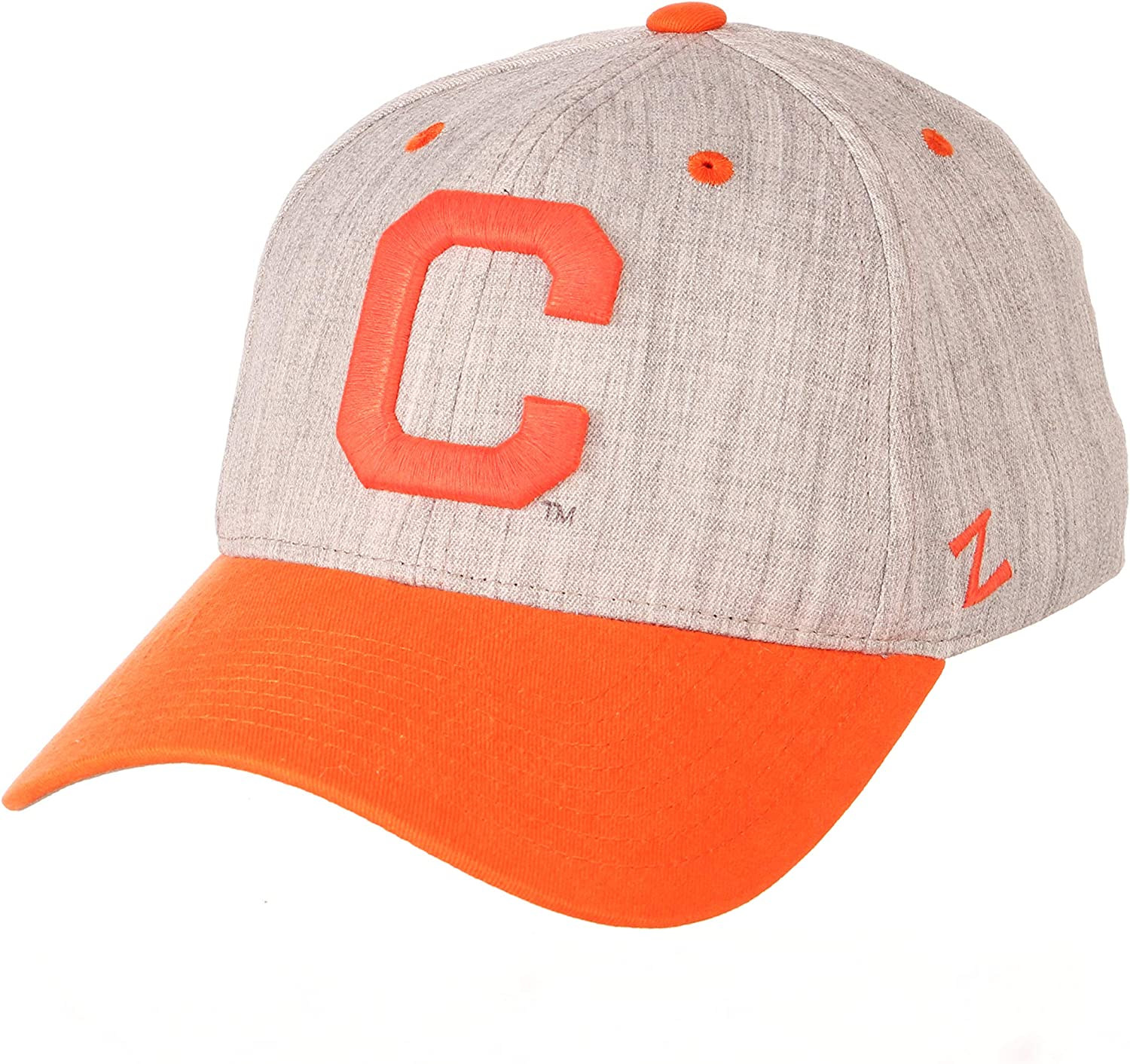 Clemson Tigers Zephyr Oxford Structured Stretch Fit Fitted Hat Cap