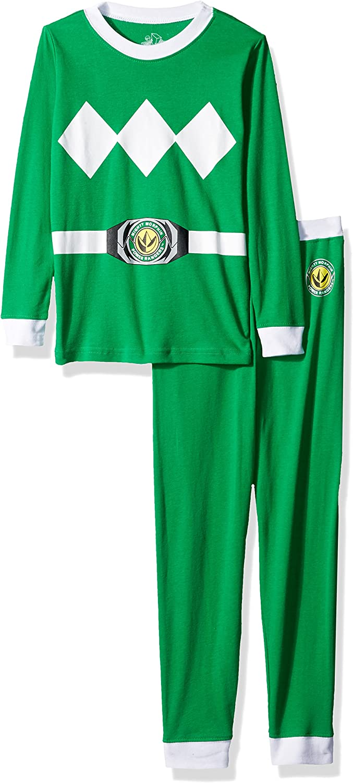 Power Ranger Boys' Little Pajama Set, green, 6