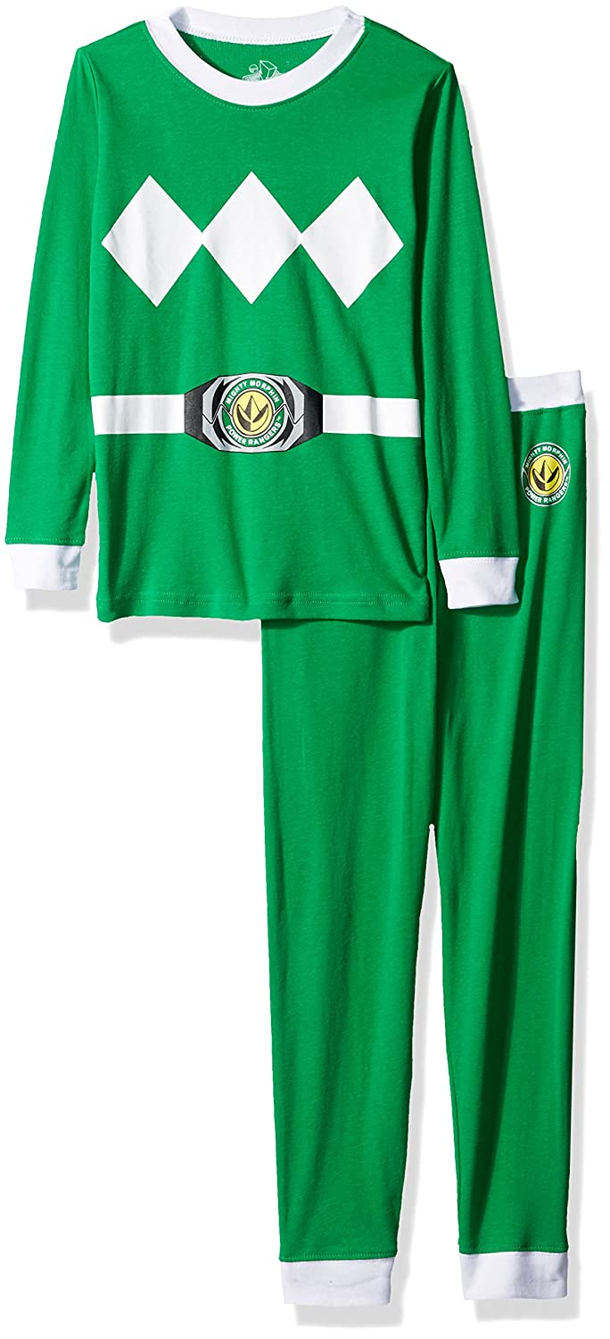 d4158ab511 Amazon.com  Power Rangers Saban Mighty Morphin Green  Costume Cotton Tight  Fit Pajama Set  Clothing
