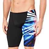 Speedo Men's Rays Jammer, Black/Light Ray