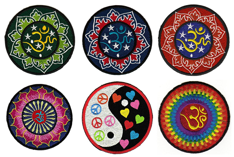 Hindú Om Yoga parche arco de 6 unidades de Patch