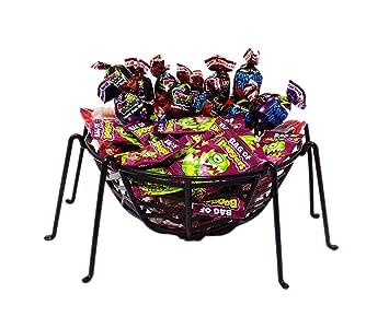 c4da52596a3fa8 Amazon.com   Halloween Spiderweb Basket full of Spooky Lollipops ...
