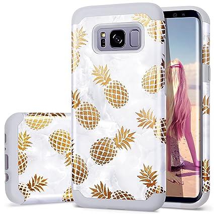 Amazon.com: Funda para Samsung S8 Plus de piña, funda para ...