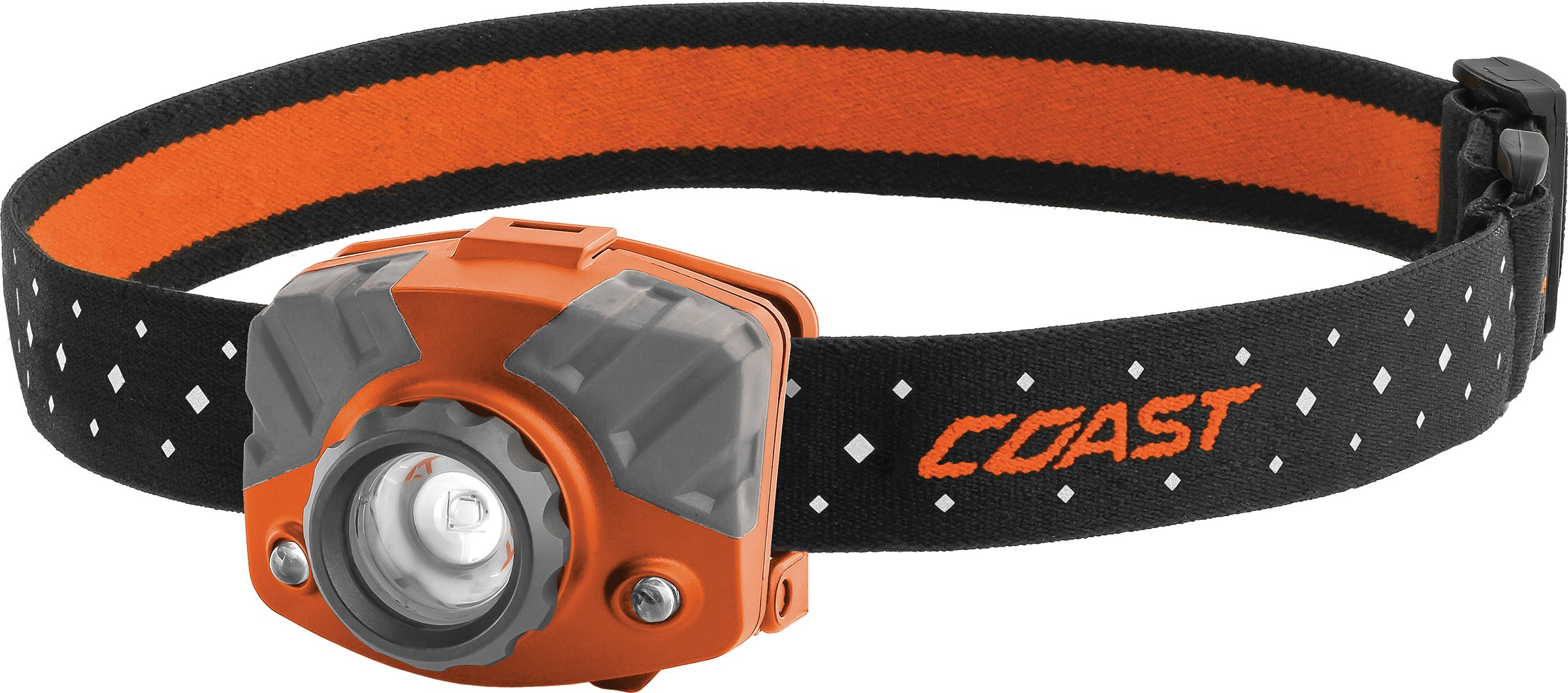 COAST FL75 435 Lumen Dual Color Focusing LED Headlamp with Twist Focus and Reflective Strap by Coast