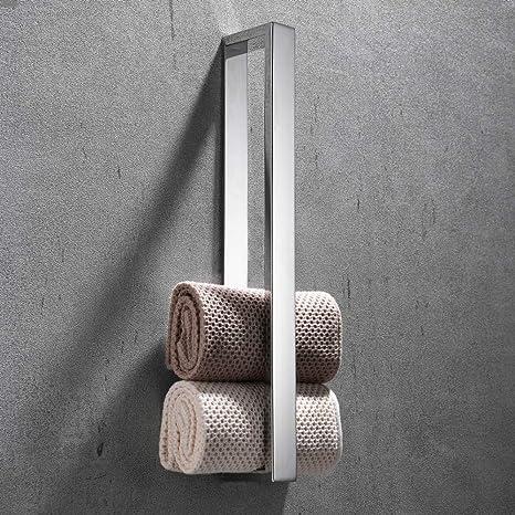 Celbon 40cm Handtuchhalter Ohne Bohren Badezimmer Handtuchhalter Selbstklebend Handtuchstange Badetuchhalter Gastehandtuchhalter Edelstahl Chrom