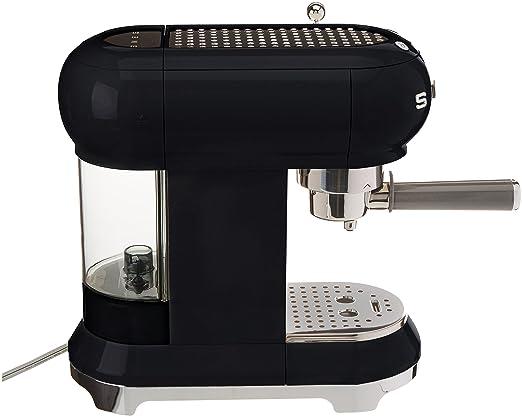 SMEG Máquina de café expreso ECF01BLEU, Acero Inoxidable, Negro