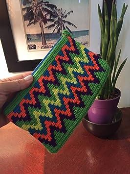 Colombian Wayuu mochila embrague bolsa de nuestro exclusivo hecho a mano Crafted Collection personalizado que es 100% auténtico y edición limitada: ...