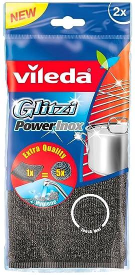Vileda - Glitzi Power Inox - Esponja de cocina