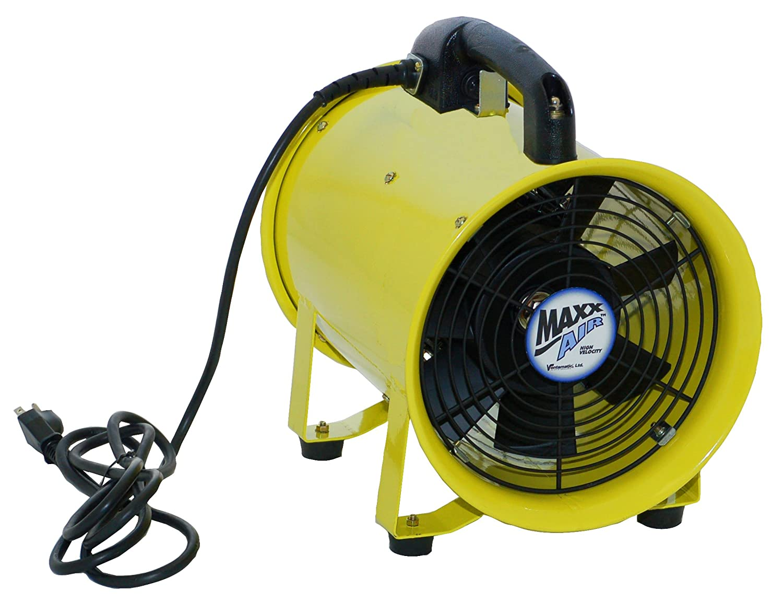 If your bathroom exhaust fan has become ear splitting over time it s - Maxxair Hvhf 12fan Heavy Duty 12 Inch Cylinder 900 Cfm Fan Bathroom Fans Amazon Com
