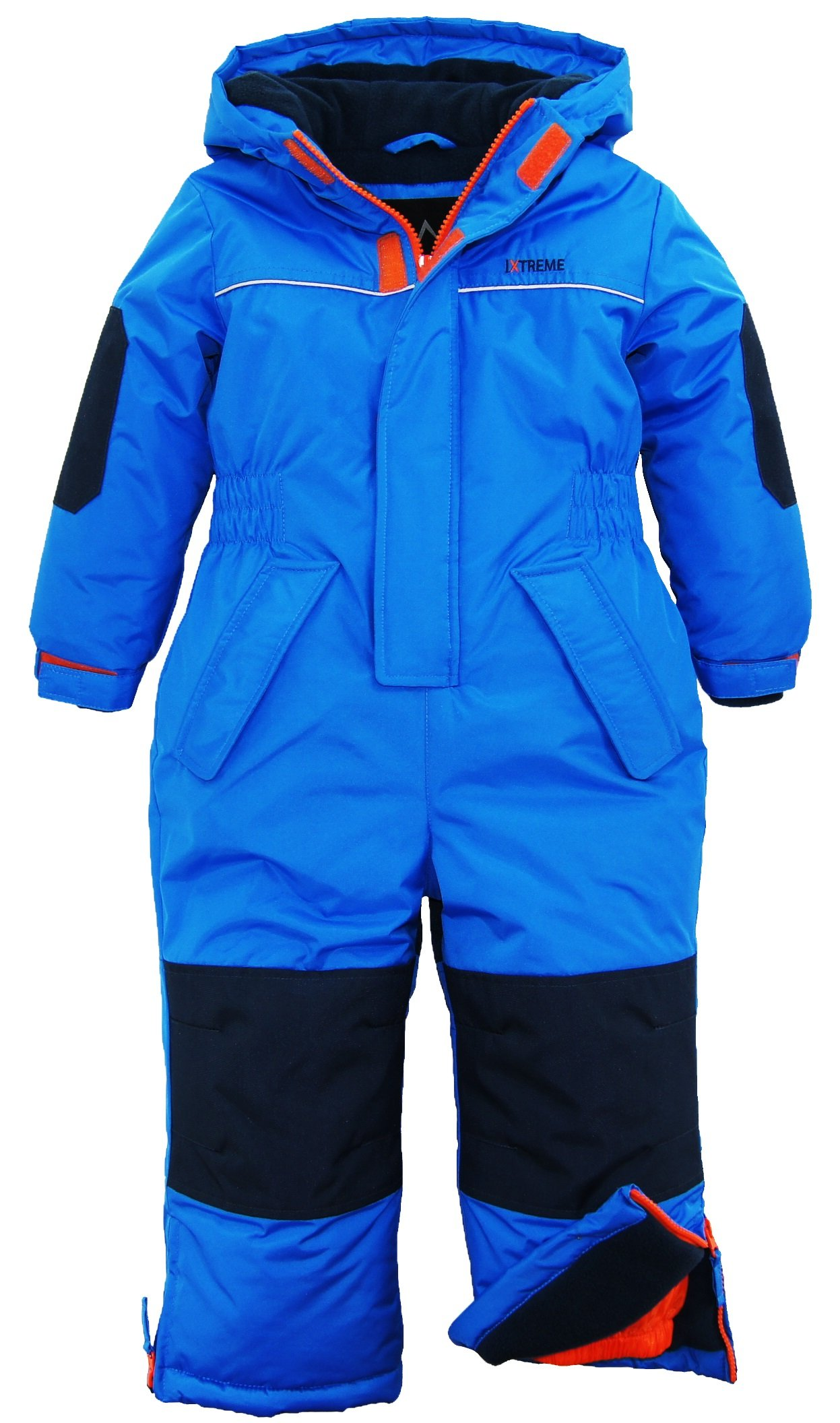 iXtreme Baby Boys Snowmobile One Piece Winter Snowsuit, Blue, 18 Months