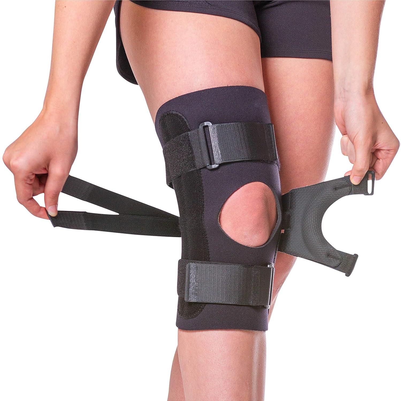 d189391d99 Amazon.com: BraceAbility J Knee Brace   Reversible for Right or Left  Patellar Dislocation & Kneecap Subluxation (Medium): Health & Personal Care
