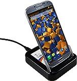 mumbi USB Dockingstation für Samsung Galaxy S4 Dock / Tischladestation mit EXTRA Akkuladefach