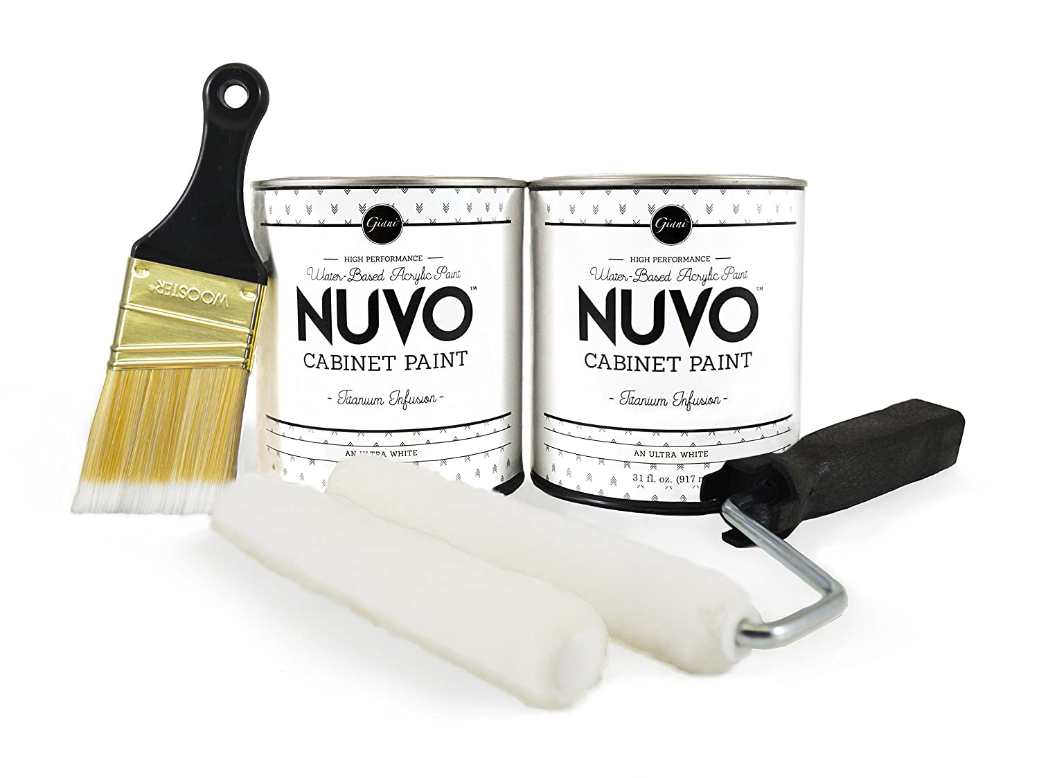 Nuvo Cabinet Paint Reviews Amazoncom Nuvo Titanium Infusion 1 Day Cabinet Makeover Kit
