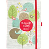 Diary 2017 - Busy Life Diary - A5 week to view with pockets by K Two Products