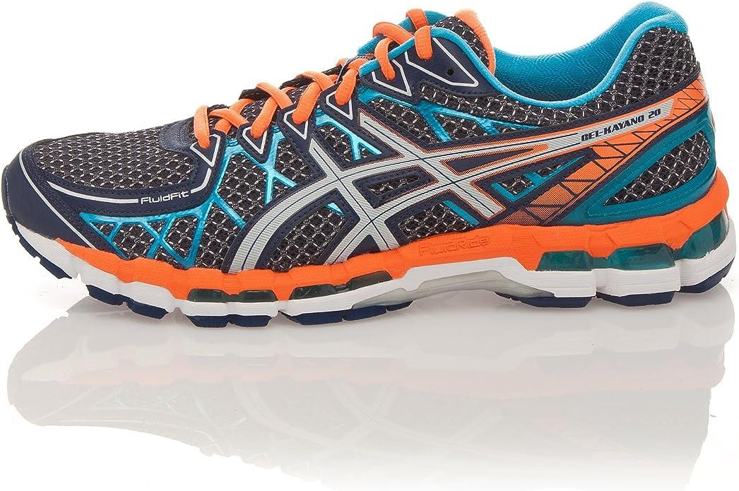 Asics Zapatillas Running Gel Kayano 20 Lite-Show Azul/Naranja EU 44.5 (US 10.5): Amazon.es: Zapatos y complementos