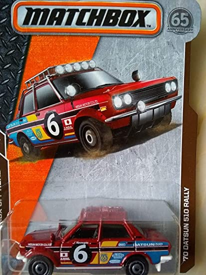 Amazon Com Matchbox 70 Datsun 510 Rally Red Diecast Car 15 20 Mbx Off Road Toys Games