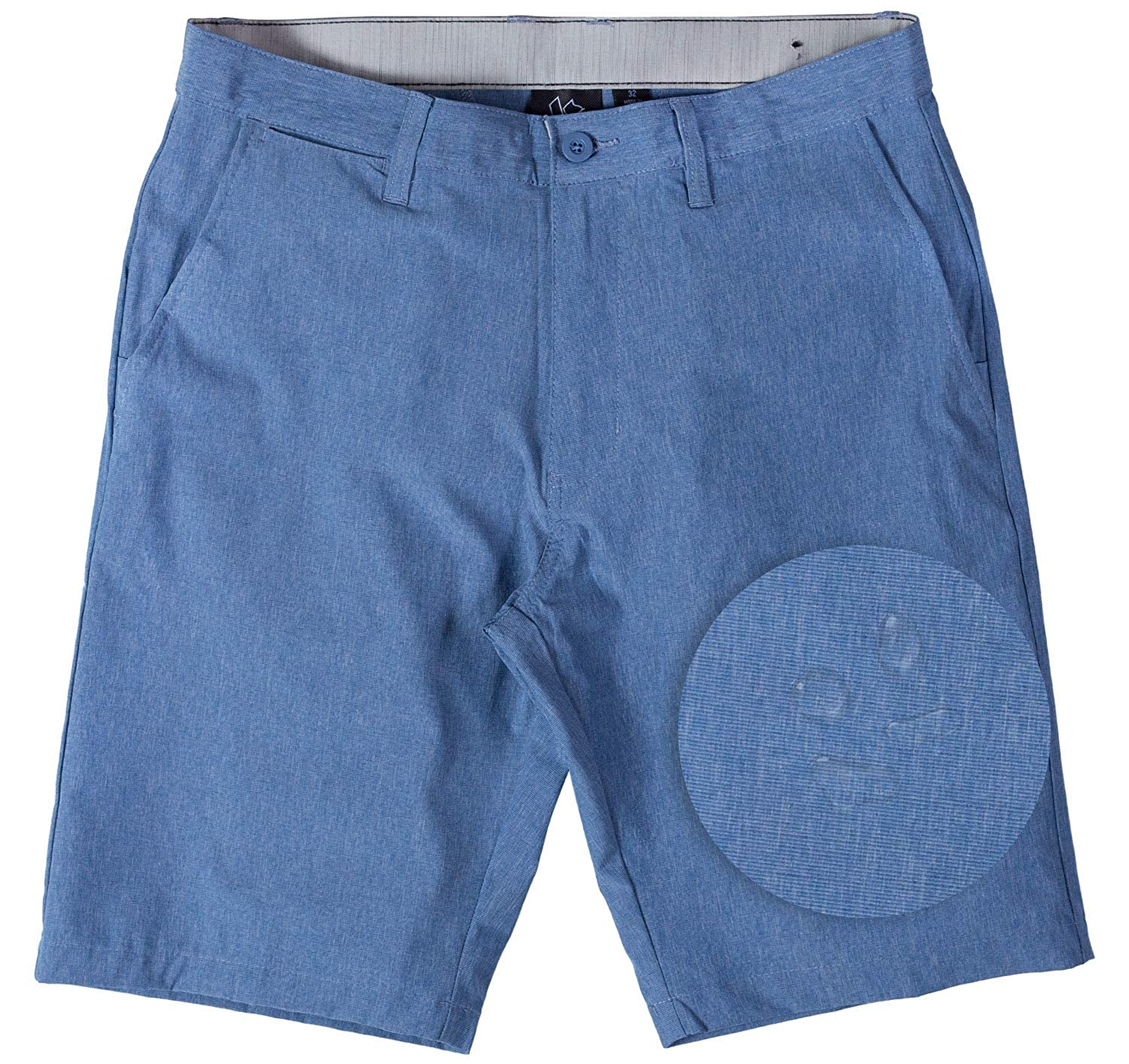 8345d5ebce Amazon.com: Burnside Hybrid Stretch Shorts for Mens Lightweight Boardshorts  Grey: Clothing