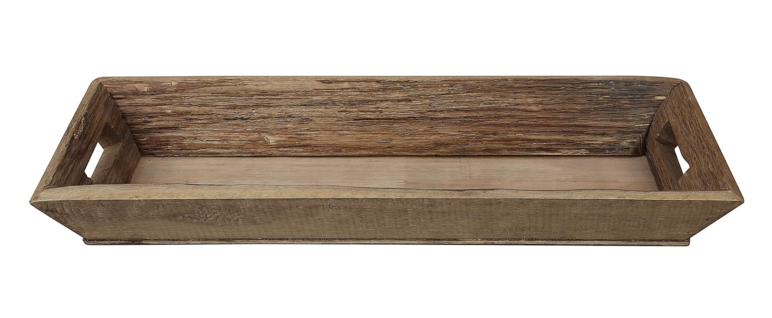Creative Co-op Brown Rectangle Decorative Wood Tray by Creative Co-op
