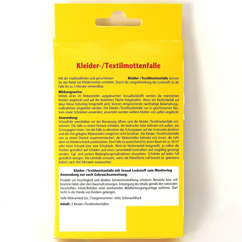 com-four/® 4X Ropa y Trampa de Polilla Textil para Combatir la Ropa y polillas Textiles y Sus Larvas 04 Piezas - Ropa Trampa Polilla