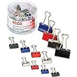 ACCO Binder Clips, Assorted Colors, 30 per tub (A7071130)