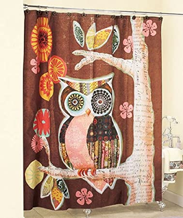 Owl Friend Shower Curtain Art Deco Bathroom Decor