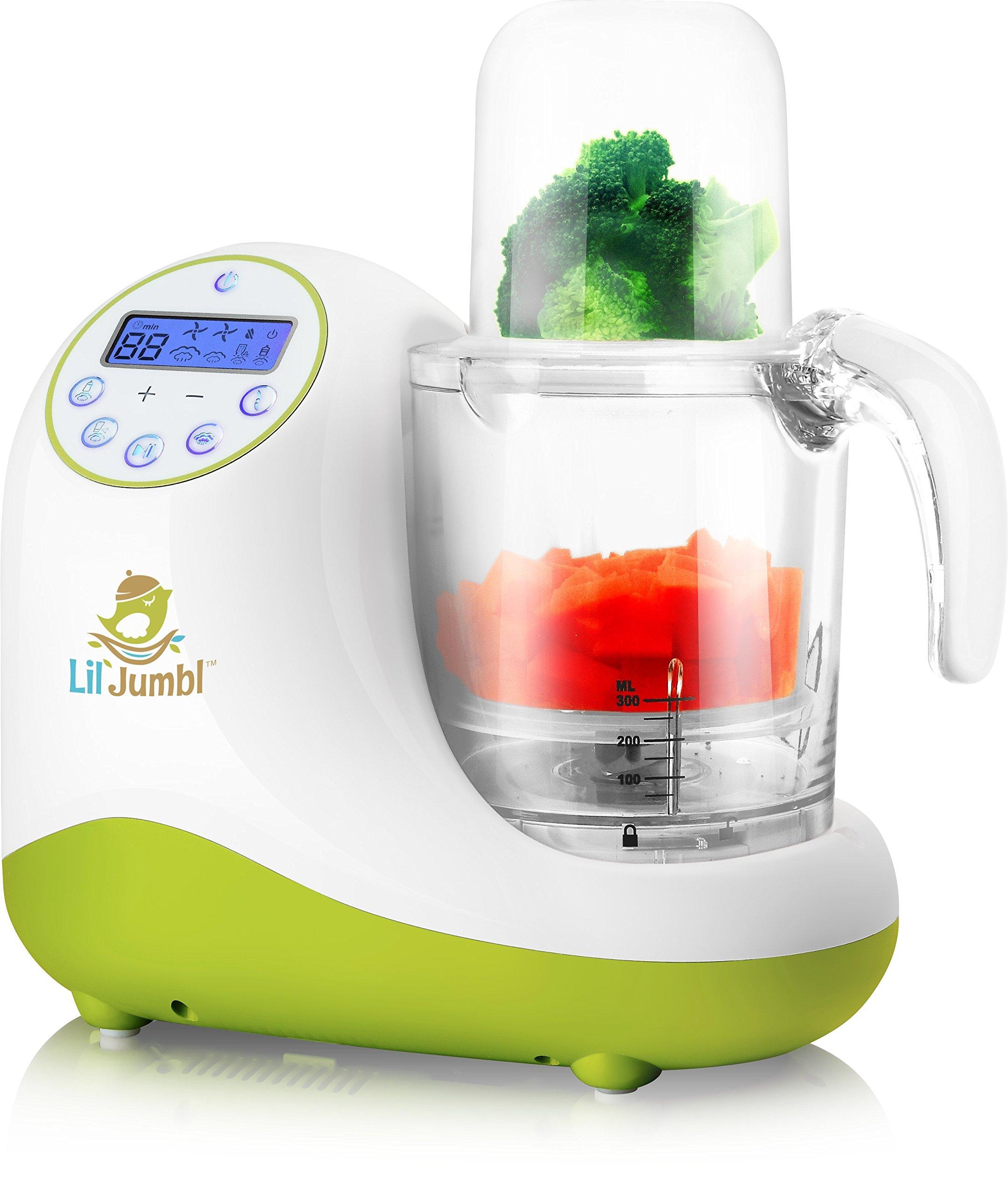 Versatile Baby Food Maker, Mill, Grinder, Blender, Steamer, Reheat, Bottle & Pacifier Warmer & Sterilizer. Digital Controls, LCD Display, Timer & Bowl Lock System. 2 Foods At Once.