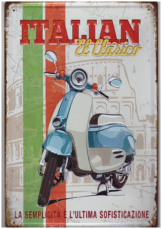 A.G.S. Cartel de Chapa Retro Vespa Roller Motocicleta ...