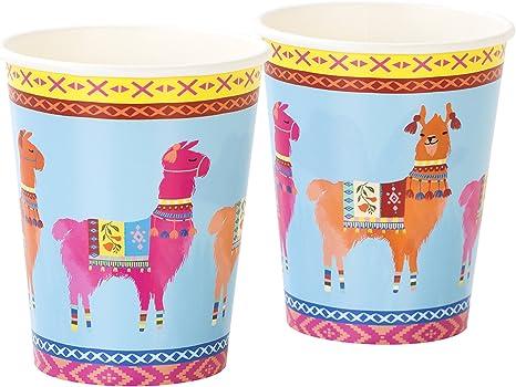 Multicolores Talking Tables BOHO-CUP-LLAMA Truly Chintz Medium Paper Plates 7,5 x 7,5 x 16,5 cm Papier