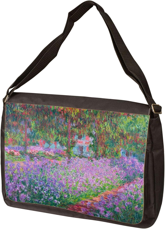 Artists Garden by Claude Monet Laptop Messenger Bag