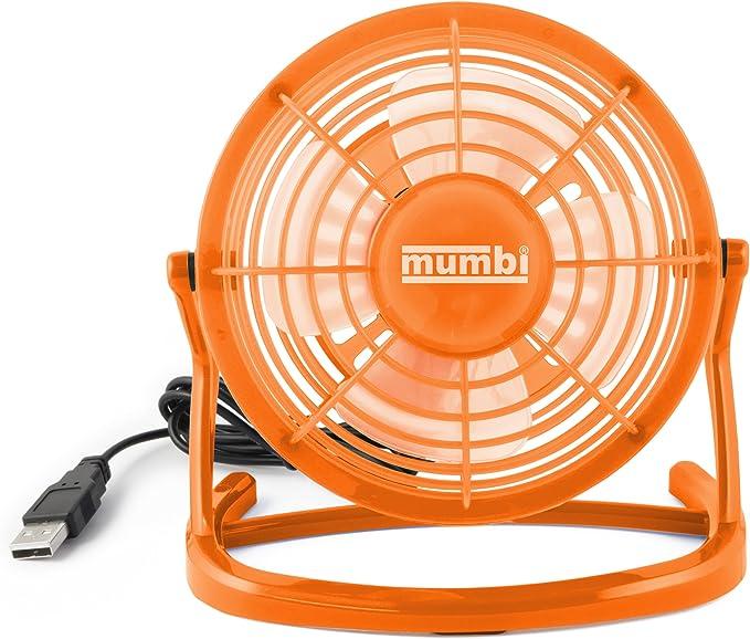mini ventilatore piccolo per scrivania con interruttore on blu mumbi Ventilatore USB off