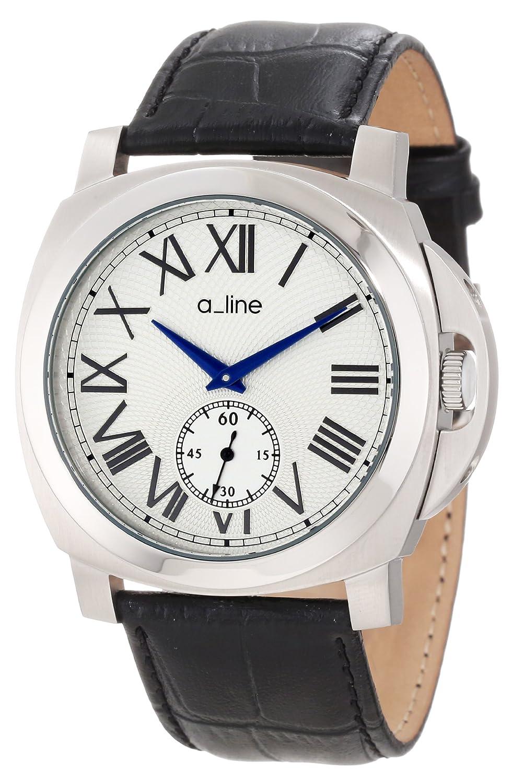A Line – 80007 – 02-bk – Armbanduhr – Quarz Analog – Armband Leder Schwarz