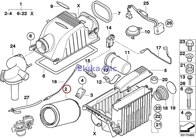 Amazon.com: Mini OEM John Cooper Works Air filter element ... on delta faucet diagrams, ge diagrams, cooper lighting diagrams,