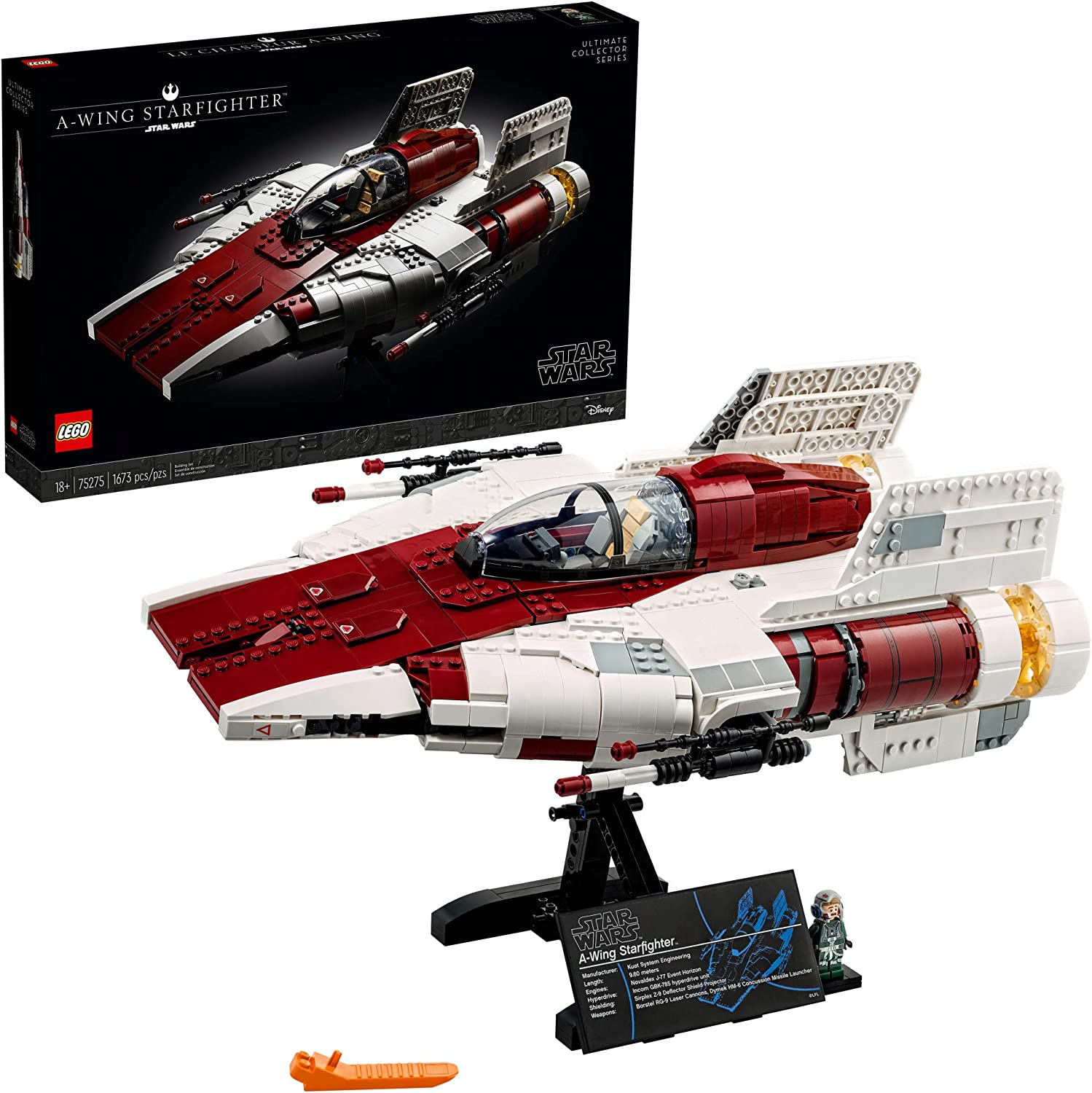 LEGO Star Wars A-wing Starfighter 75275 Building Kit; Collectible Building Set for Adults; Makes a Cool Birthday or Holiday Gift for Star Wars Fans, New 2020 (1,673 Pieces)