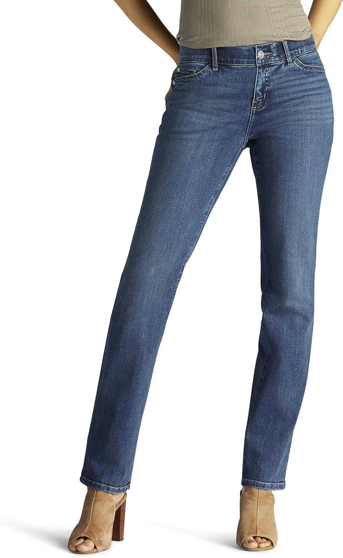 Lee Women's Petite Flex Motion Jean Regular Fit Straight 100% quality warranty Leg Kansas City Mall