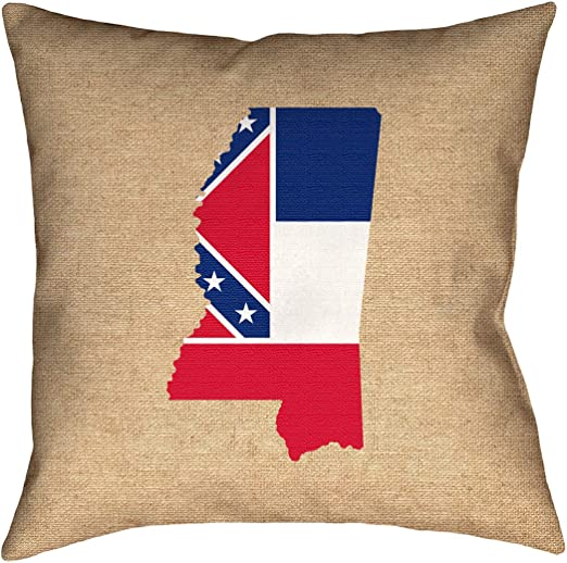 ArtVerse Katelyn Smith 40 x 40 Floor Double Sided Print with Concealed Zipper /& Insert Alabama Love Pillow