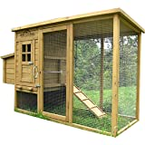 Pets Imperial® Wentworth Large Chicken Coop Hen Ark  House Poultry Run Nest Box Rabbit Hutch Suitable For Up To 4 Birds - Integrated Run & Cleaning Tray & Innovative Locking Mechanism
