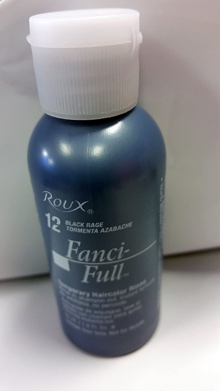 Roux Fanci-Full Temporary Hair Color Rinse #12-Black Rage 1.6OZ (1 PACK)