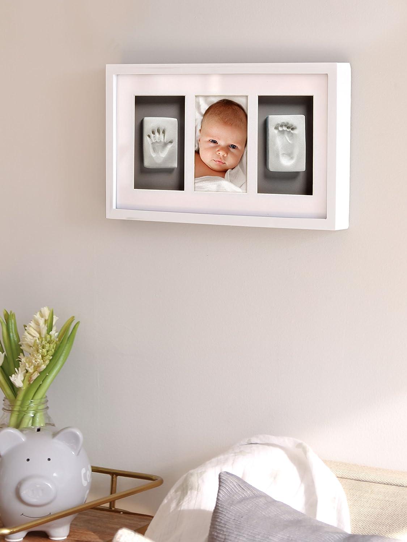 Pearhead Babyprints Deluxe Rahmen Wand Wei/ß und Grau