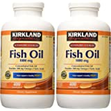 Kirkland Signature Natural Fish Oil Concentrate with Omega-3 Fatty Acids, 400 Softgels 2-Pack