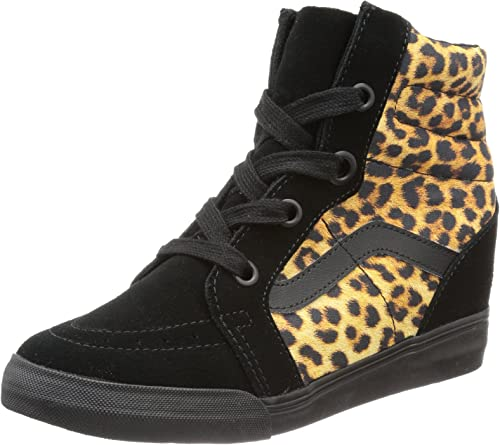 Vans U Sk8 hi Wedge (Leopard) Black, Basket Mixte Adulte